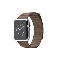 Умные часы Apple Watch на кожаном ремешке 42 мм