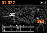 Щипцы прямые  L-240мм., Ra - (40...110)мм., для внутренних стопорных колец, NEO 01-037