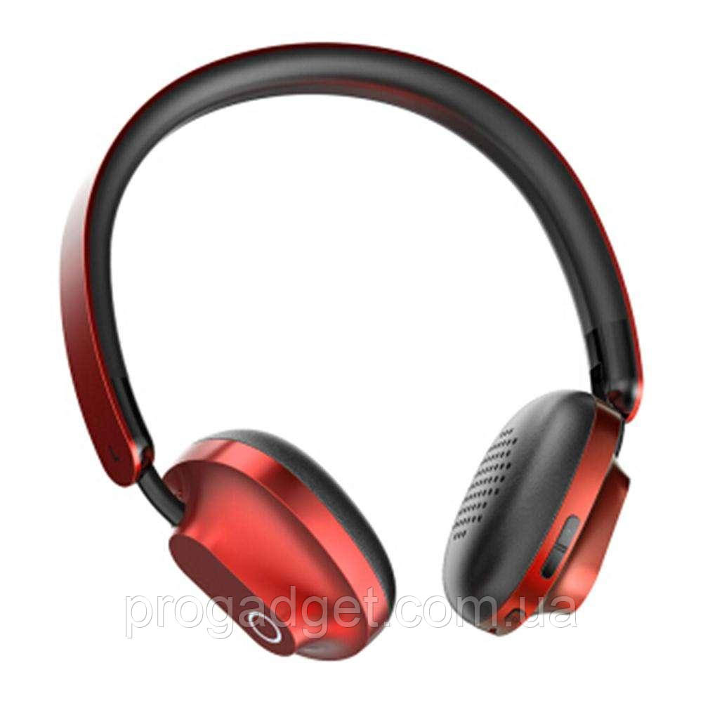 Baseus D01 Bluetooth 4.2 беспроводные наушники для спорта black + red (черные + красные) + провод