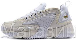 "Мужские кроссовки Nike Zoom 2K ""White"" (в стиле Найк Зум 2К) белые"