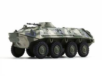 Модель коллекционная Русские Танки №90 БТР-60ПБ (Eaglemoss) в масштабе 1:72
