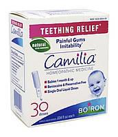 Camilia, облегчение боли при прорезывании зубов. Boiron,30 монодоз. Оригинал.