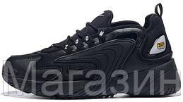 """Мужские кроссовки Nike Zoom 2K """"Black"""" (в стиле Найк Зум 2К) черные"""