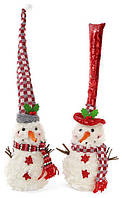 Новогодняя мягкая игрушка Снеговик в шапке 16х16х35 см (psg_BD-778-247)