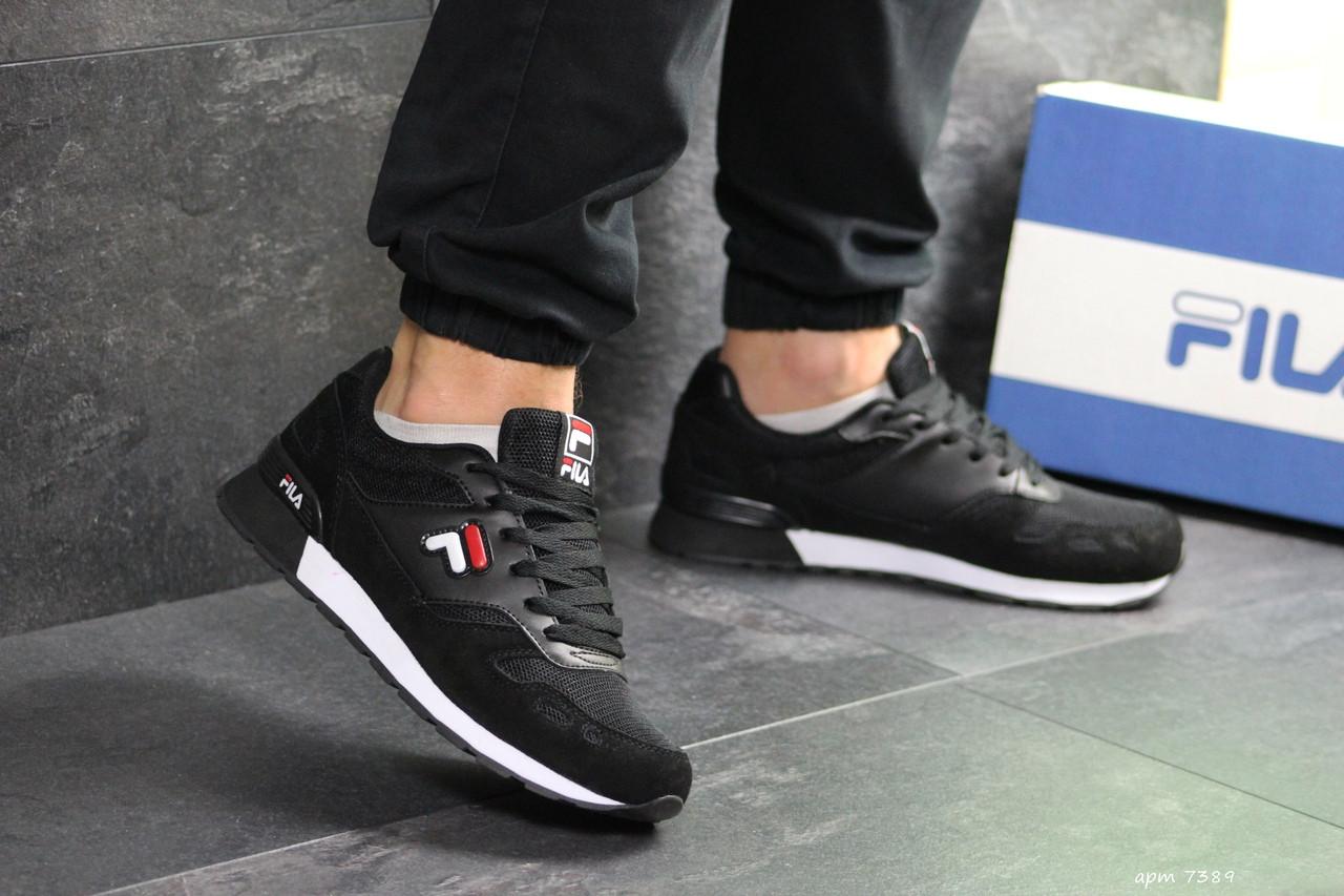 Мужские кроссовки Filа,замшевые,черно-белые 44,46р