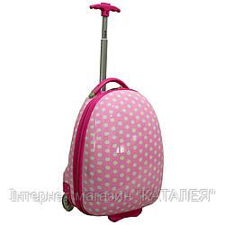 Чемодан детский на колесиках Pink