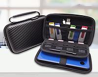 Органайзер / кейс / бокс жёсткий GUANHE GH1808 (180*120) с ручкой, для Nintendo New3DS XL / проводов / HDD