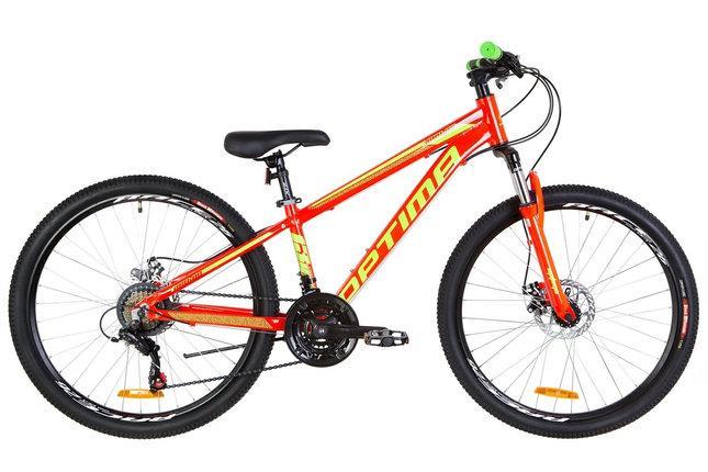 """Горный велосипед 26"""" Optimabikes MOTION DD 2020 (оранжевый )"""