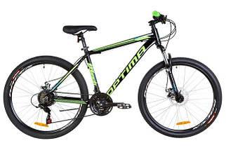 """Горный велосипед 26"""" Optimabikes MOTION DD 2019 (красно-салатный), фото 2"""