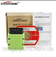 Автосканер Konnwei KW902 OBD 2 ELM327 V1.5 pic18f25k80 WIFI  ios салатовый