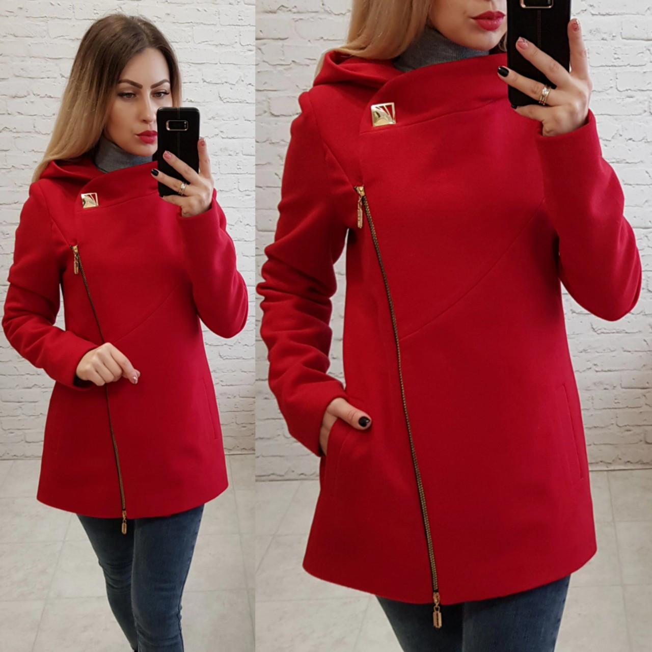 Пальто кашемировое с капюшоном, модель 156