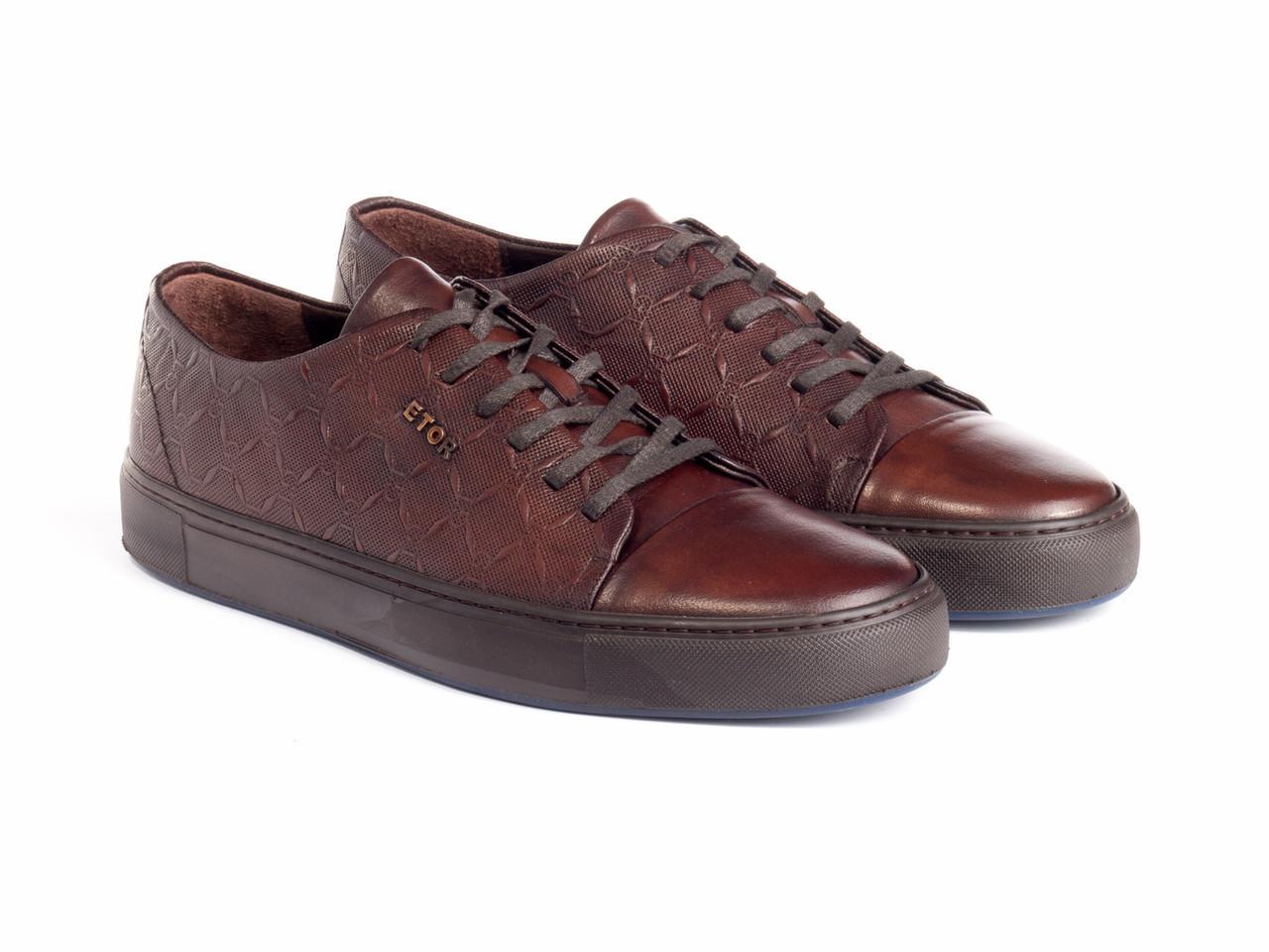 Кеды Etor 8736-78-1 40 коричневые