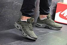 Кроссовки мужские Nike air max Tn,замшевые,темно зеленые, фото 2