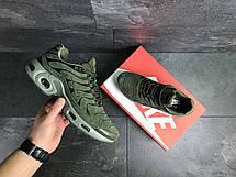 Кроссовки мужские Nike air max Tn,замшевые,темно зеленые, фото 3