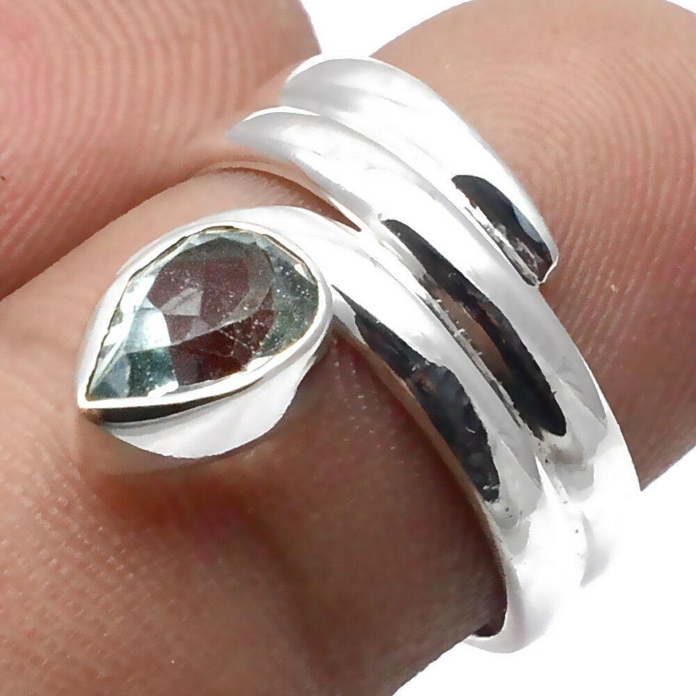 Топаз голубой, серебро 925, кольцо, 1542КЦТ