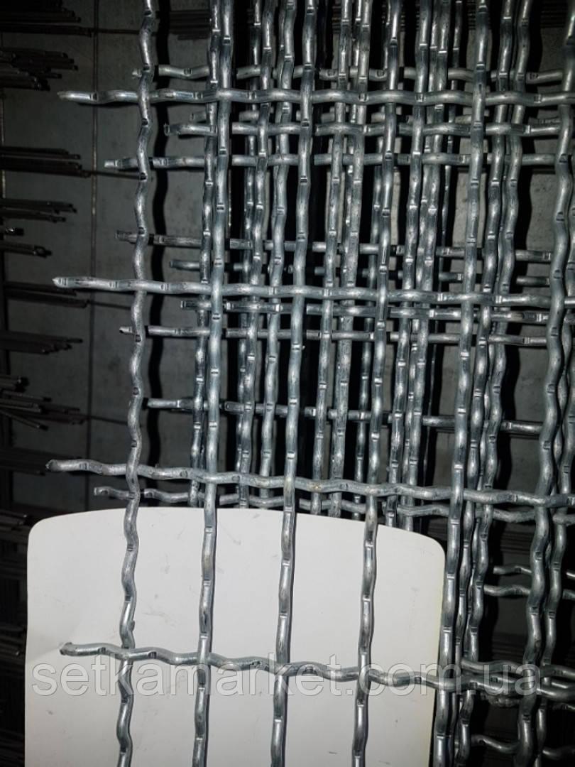Сетка Канилированная, Ячейка 25х50 мм, Проволока 3,6 мм. Оцинкованная
