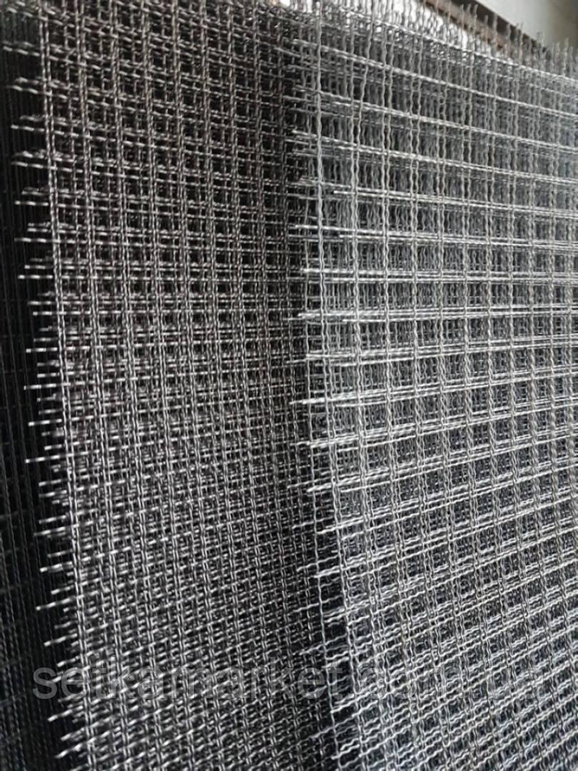 Сетка Канилированная, Ячейка 25х25 мм, Проволока 3 мм. Чёрная