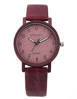 Бордовые женские часы