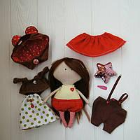 Игровая текстильная кукла, лесная феечка-медвежонок Hand Made, фото 1