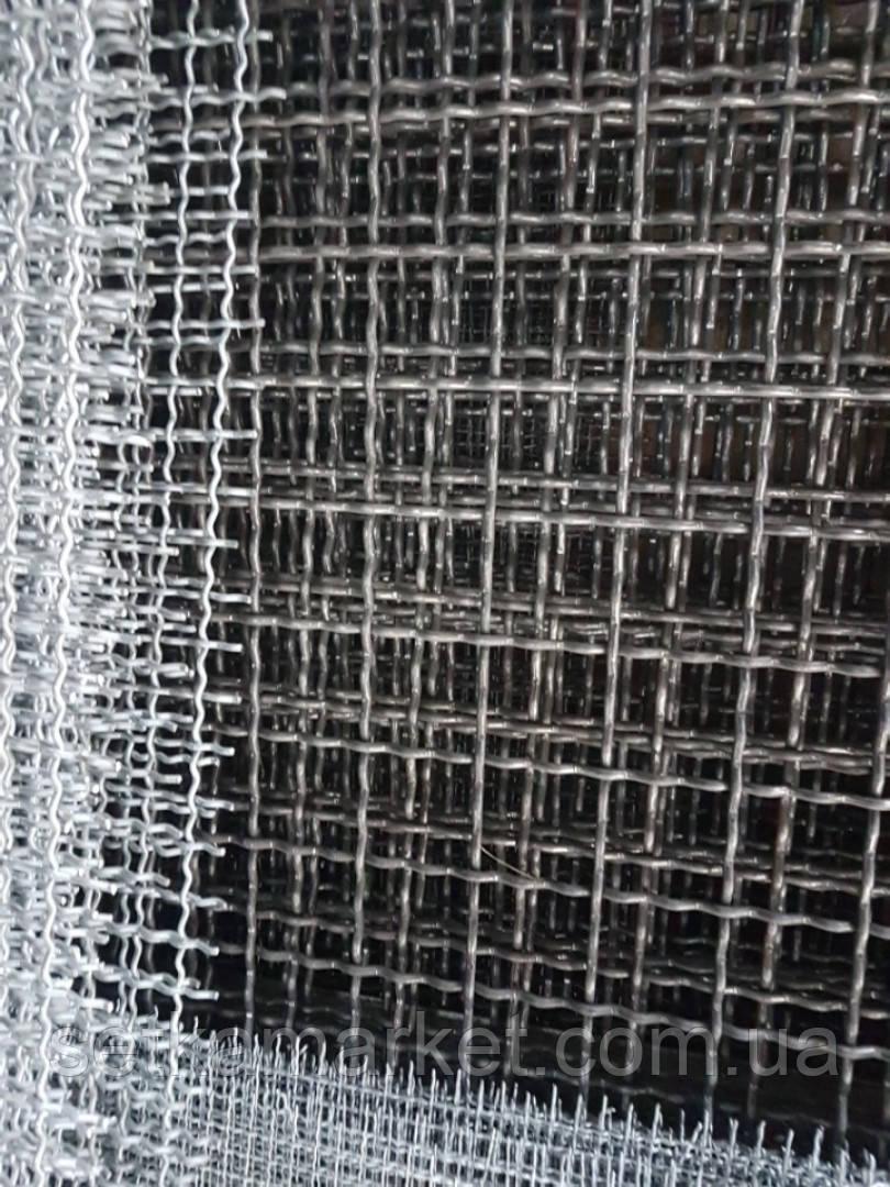 Сетка Канилированная, Ячейка 60х60 мм, Проволока 6(5,6) мм. Чёрная