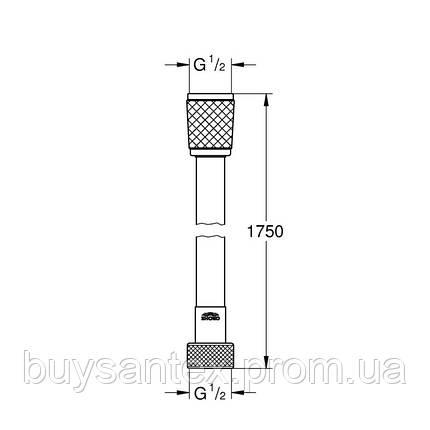 Grohe Relexaflex 28154001 душевой шланг 175 см, фото 2