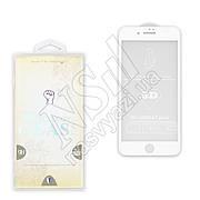 Защитное стекло APPLE iPhone 7 Plus закаленное (0.3мм, 3D) белое