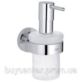 Grohe Essentials 40448001 дозатор жидкого мыла с держателем