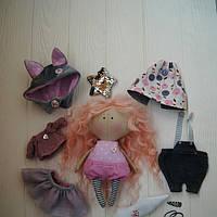 Игровая текстильная кукла, лесная феечка-котик Hand Made