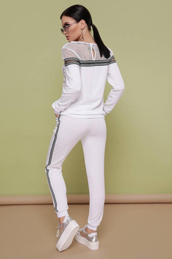 Женский спортивный костюм белый прогулочный, фото 2