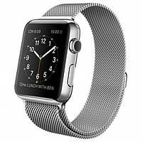Умные часы Apple Watch на сетчатом миланском браслете 42 мм