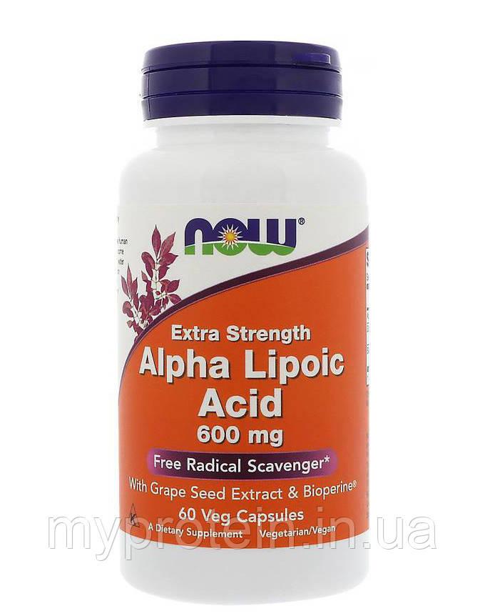 NOW Альфа-липоевая кислота Extra Strength Alpha Lipoic Acid 600 mg 120 caps
