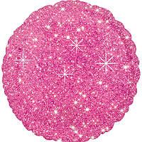 """Фольгированный шар Anagram Круг 18"""" (46 см) розовый искристый"""