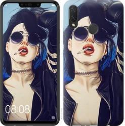 """Чехол на Huawei P Smart Plus Девушка на стиле """"4151c-1555-328"""""""