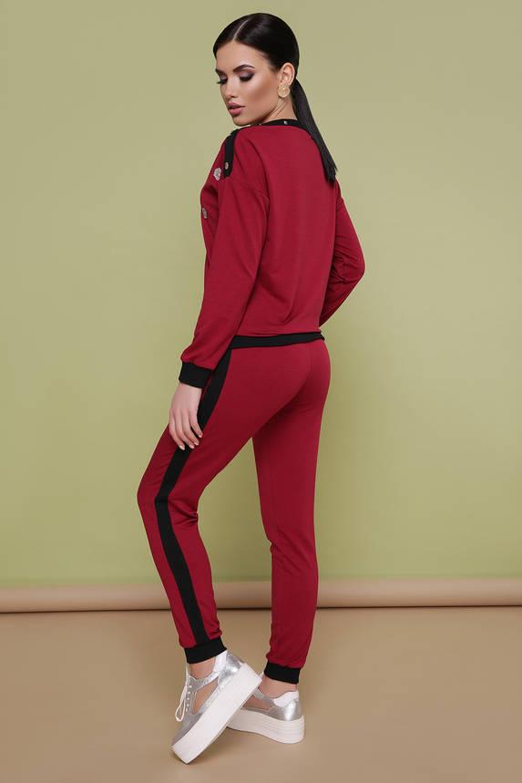 Женский спортивный костюм бордовый прогулочный, фото 2