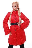 Donna-M Куртка зимняя с пуговицами и поясом-резинка Р 986, фото 1