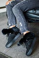 Donna-M Зимние замшевые ботинки в стиле Dsquared Артикул 054, фото 1