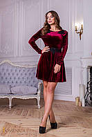 Donna-M Платье с длинным рукавом из ткани бархат Р 1550, фото 1
