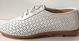 Туфли женские на плоской подошве из натуральной кожи от производителя модель АР490-1, фото 2