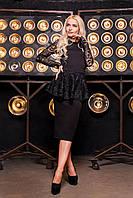 Donna-M Женственное платье со съемной баской Р 1551, фото 1