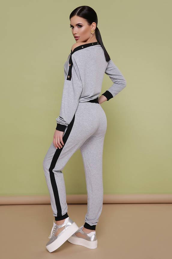 Женский спортивный костюм серый прогулочный, фото 2