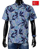 Рубашка-гавайка мужская.Летние мужские рубашки на короткий рукав.