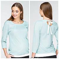 Джемпер для беременных и кормления LERIN BL-19.021, из трикотажа с люрексом, мятный, фото 1
