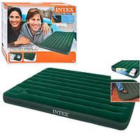 Надувной матрац Intex 66929 встроен ножной насос