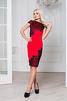 Donna-M Роскошное платье с кружевом макраме Р 1075, фото 1
