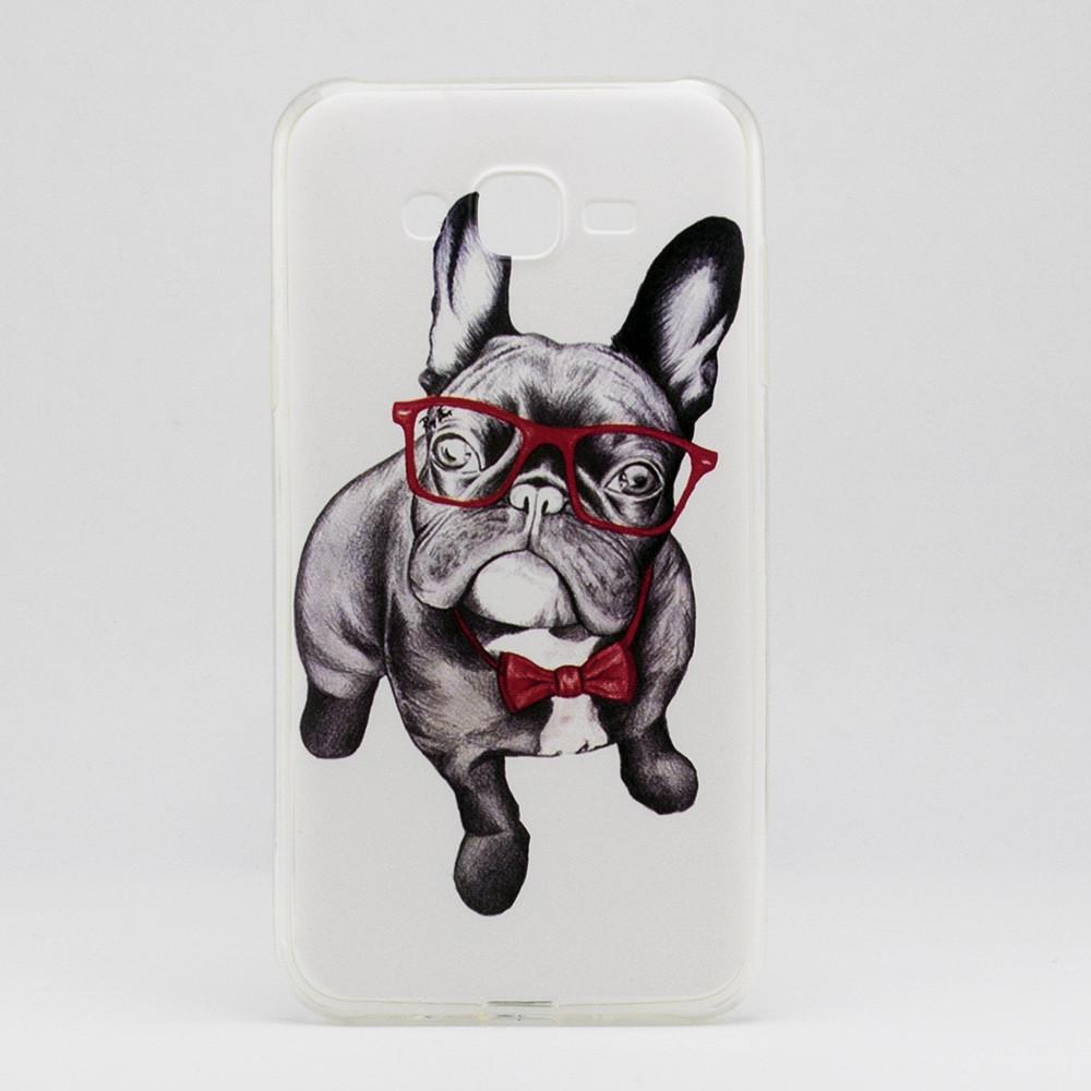 Чехол Print для Samsung J7 2015 / J700H / J700 / J700F силиконовый бампер с рисунком Dog