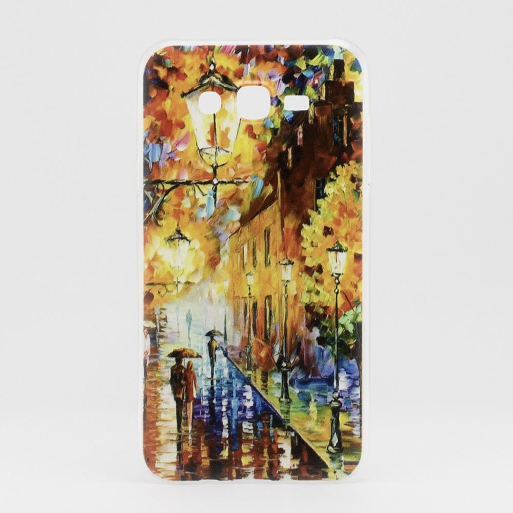 Чехол Print для Samsung J7 2015 / J700H / J700 / J700F силиконовый бампер Autumn