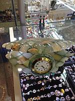 Настольные Часы в форме ракушки из натурального камня Оникс