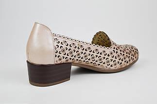 Туфлі літні бежеві шкіряні Euromoda 143 36 розмір, фото 2