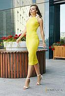 Donna-M Облегающее платье в виде французской резинки V 49, фото 1