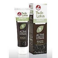 Зубная паста с бамбуковым углем Twin Lotus Active Charcoal, 50 гр